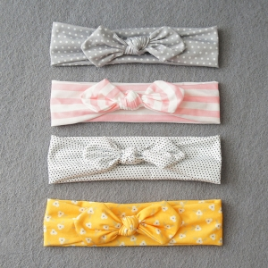 Baby Headband Cotton Bow (BHB8145)