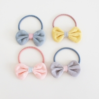 Girl Hair Tie Bow Cotton (GPT8175)
