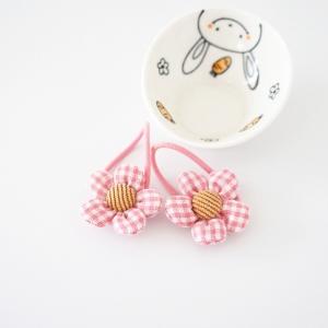 Girl Hair Tie Floral Plaid (GPT8374)