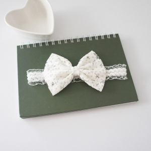 Baby Headband Bow Lace (BHB8428)