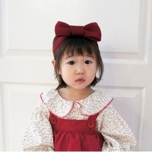 Baby Headband Bow Adjustable (BHB8202)