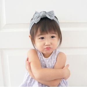 Baby Headband Bow Polkadot (BHB8300)