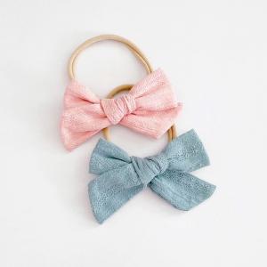 Baby Headband Bow Seamless 2pcs (BHB8368A)