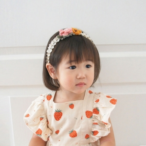 Baby Headband Floral Lace (BHB8384)