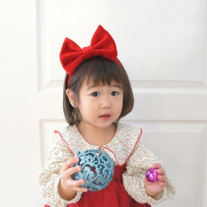 Baby Headband Bow Flannel (BHB8396)