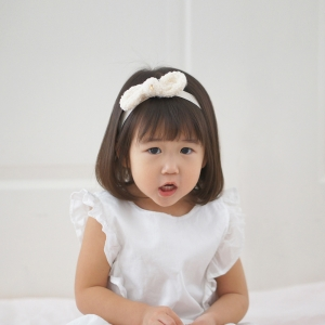 Baby Headband Bow Fur (BHB8427)