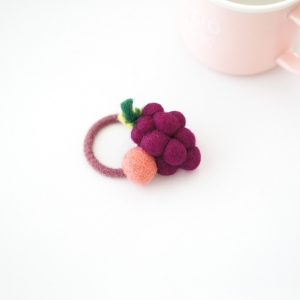 Girl Hair Tie Grape Wool (GPT8492)