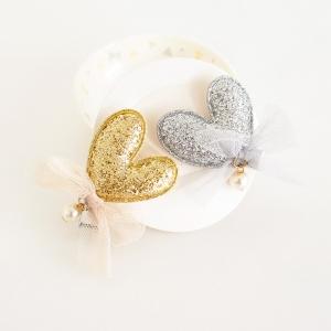 Girl Hair Clip Heart Glitter (GHP8306)
